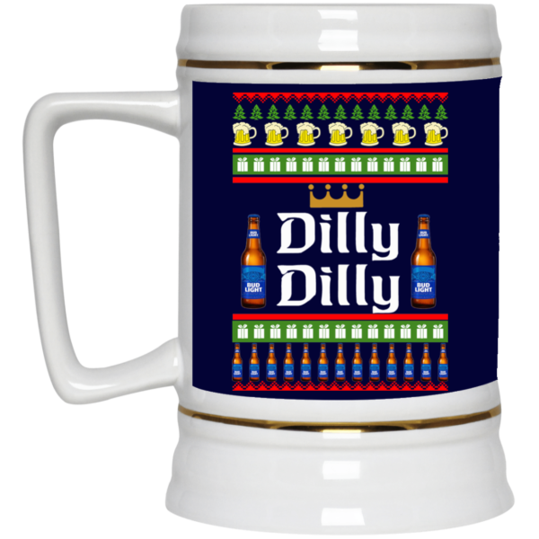 image 20 600x600 - Dilly Dilly Christmas Mug, Beer Stain