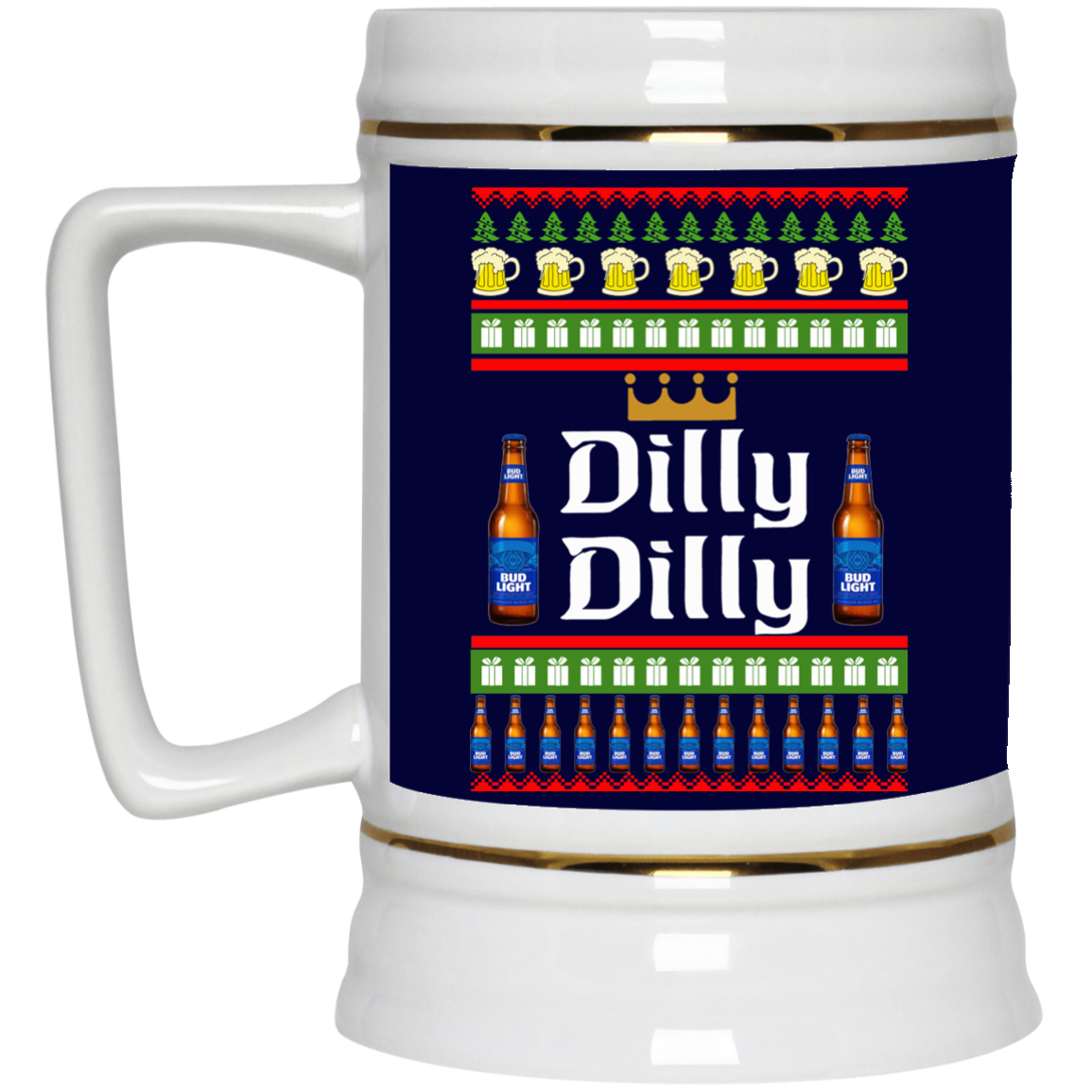 image 20 - Dilly Dilly Christmas Mug, Beer Stain