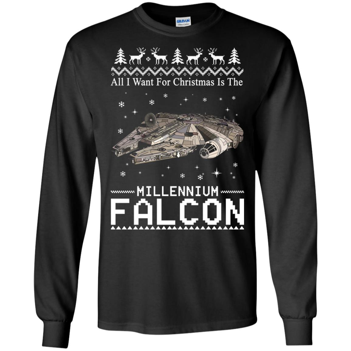 image 2132 - All I Want For Christmas is The Millennium Falcon Sweater, Ugly Sweatshirt