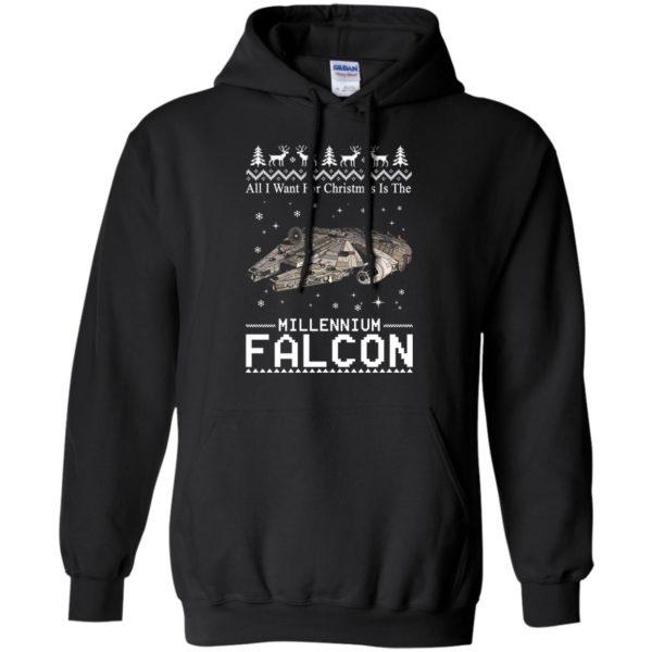 image 2135 600x600 - All I Want For Christmas is The Millennium Falcon Sweater, Ugly Sweatshirt