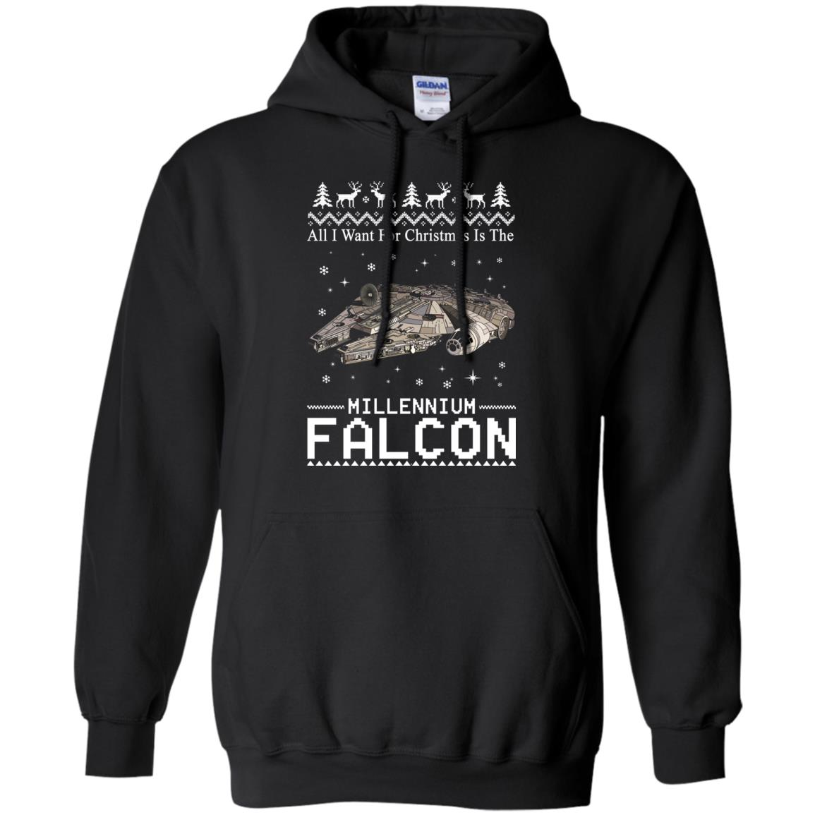 image 2135 - All I Want For Christmas is The Millennium Falcon Sweater, Ugly Sweatshirt