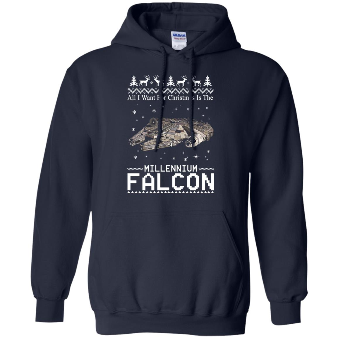 image 2136 - All I Want For Christmas is The Millennium Falcon Sweater, Ugly Sweatshirt