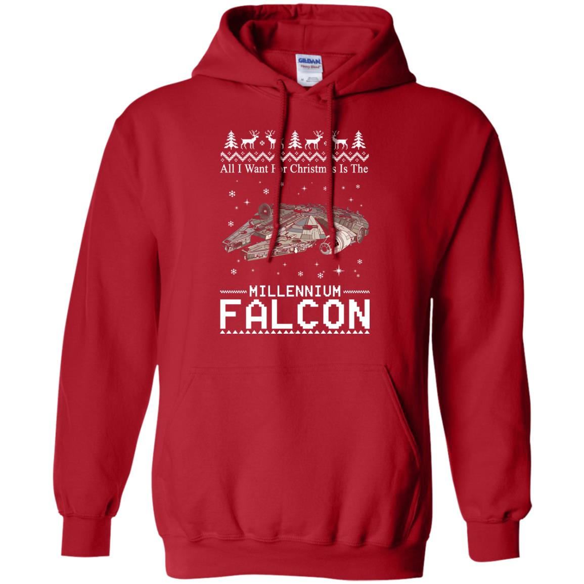 image 2137 - All I Want For Christmas is The Millennium Falcon Sweater, Ugly Sweatshirt