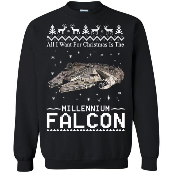 image 2138 600x600 - All I Want For Christmas is The Millennium Falcon Sweater, Ugly Sweatshirt