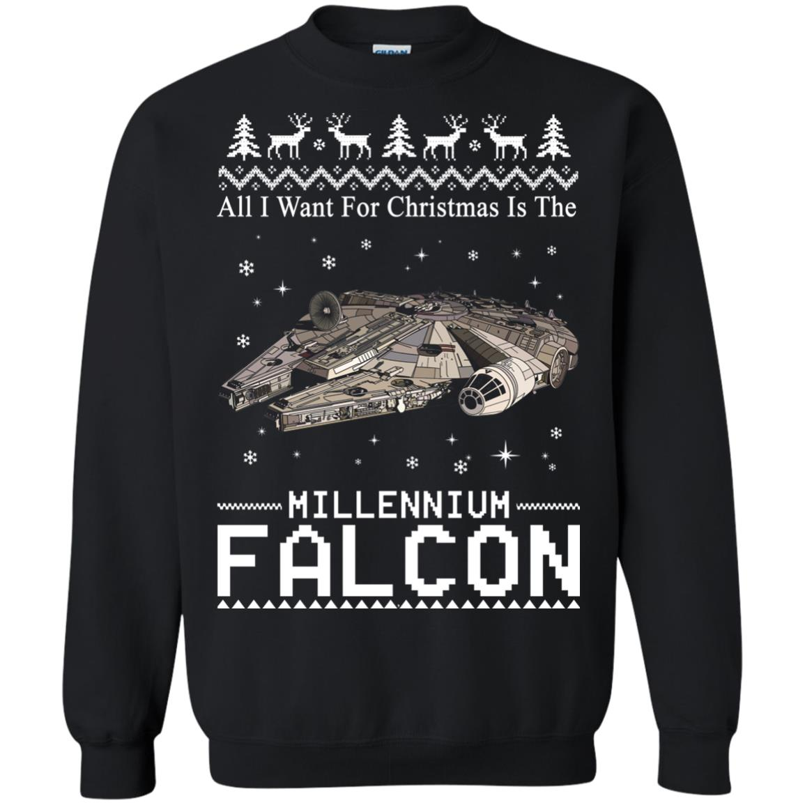 image 2138 - All I Want For Christmas is The Millennium Falcon Sweater, Ugly Sweatshirt