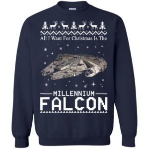 image 2139 300x300 - All I Want For Christmas is The Millennium Falcon Sweater, Ugly Sweatshirt
