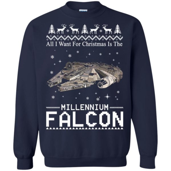 image 2139 600x600 - All I Want For Christmas is The Millennium Falcon Sweater, Ugly Sweatshirt