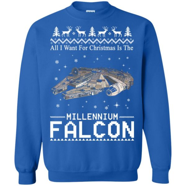 image 2142 600x600 - All I Want For Christmas is The Millennium Falcon Sweater, Ugly Sweatshirt