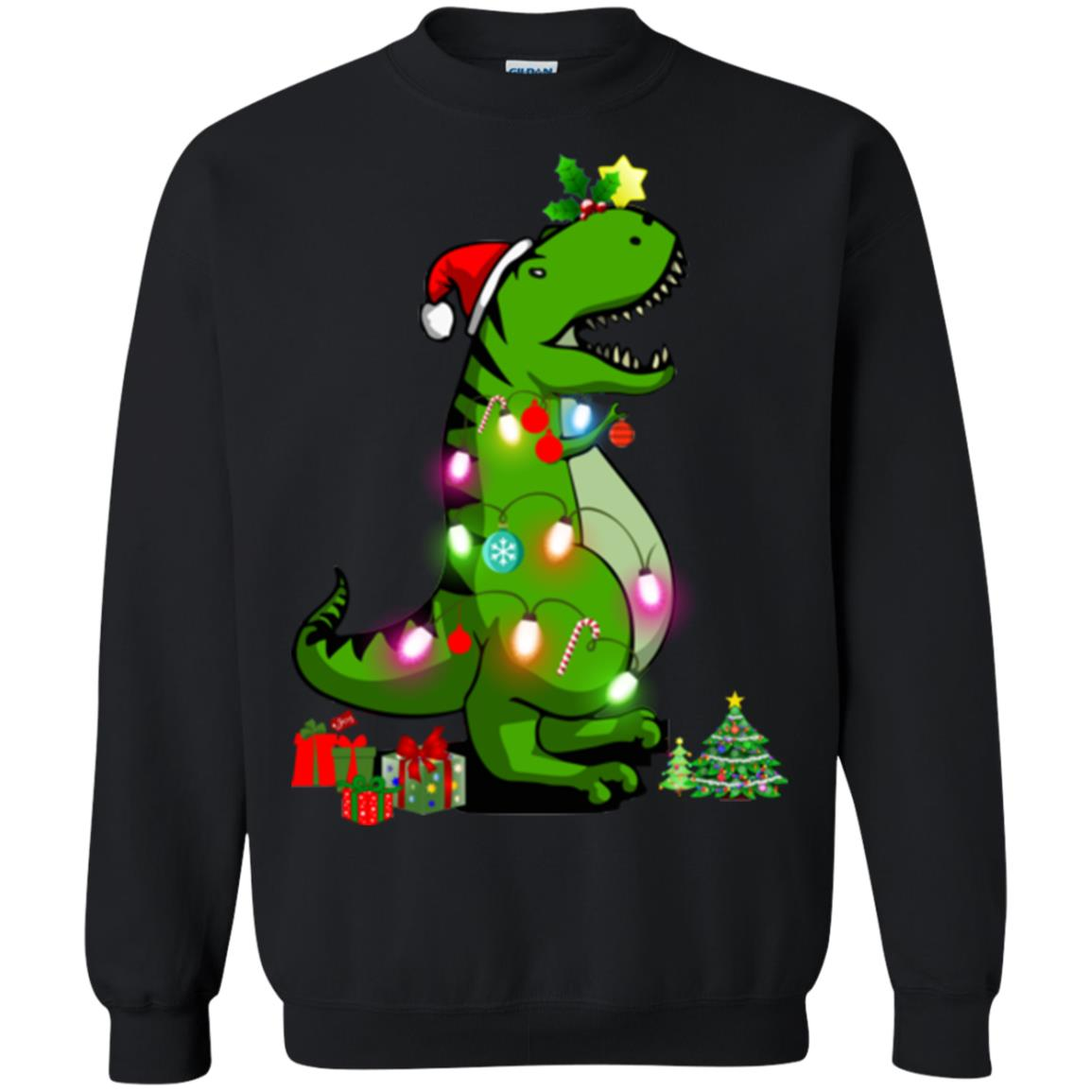 image 2256 - T-Rex Christmas Tree Sweater, Shirt, Hoodie