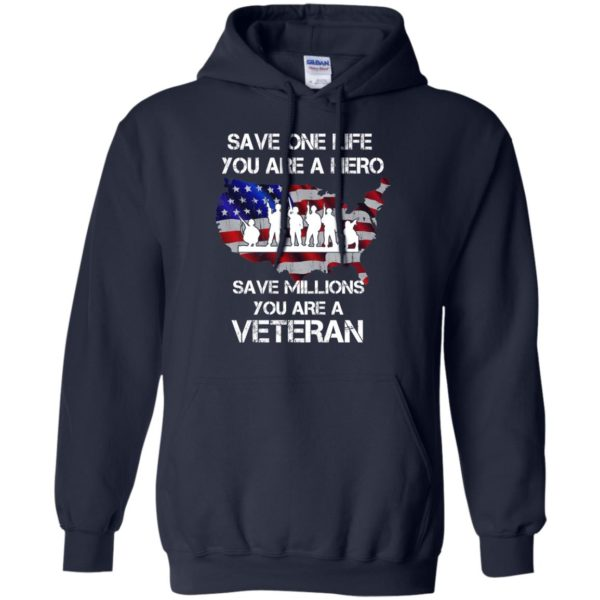 image 2315 600x600 - Save one life you are a hero save million you are a Veteran Shirt, Hoodie