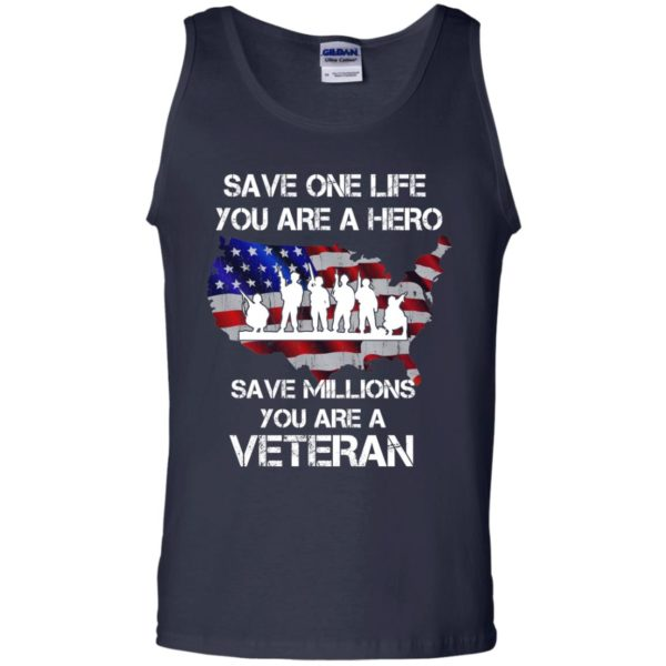 image 2319 600x600 - Save one life you are a hero save million you are a Veteran Shirt, Hoodie