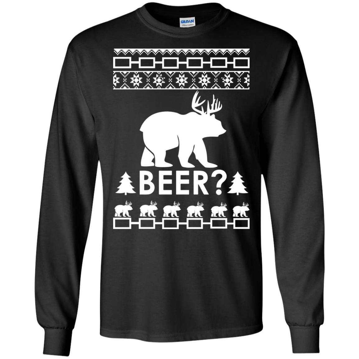 image 2359 - Christmas Beer Bear-Reindeer Ugly Sweater, Shirt