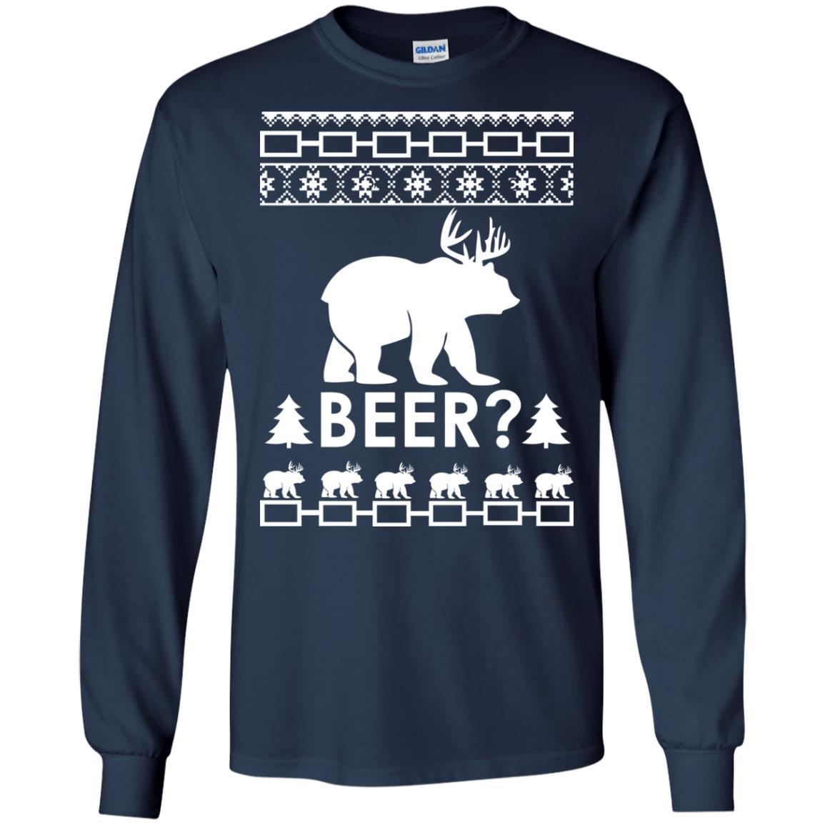 image 2360 - Christmas Beer Bear-Reindeer Ugly Sweater, Shirt