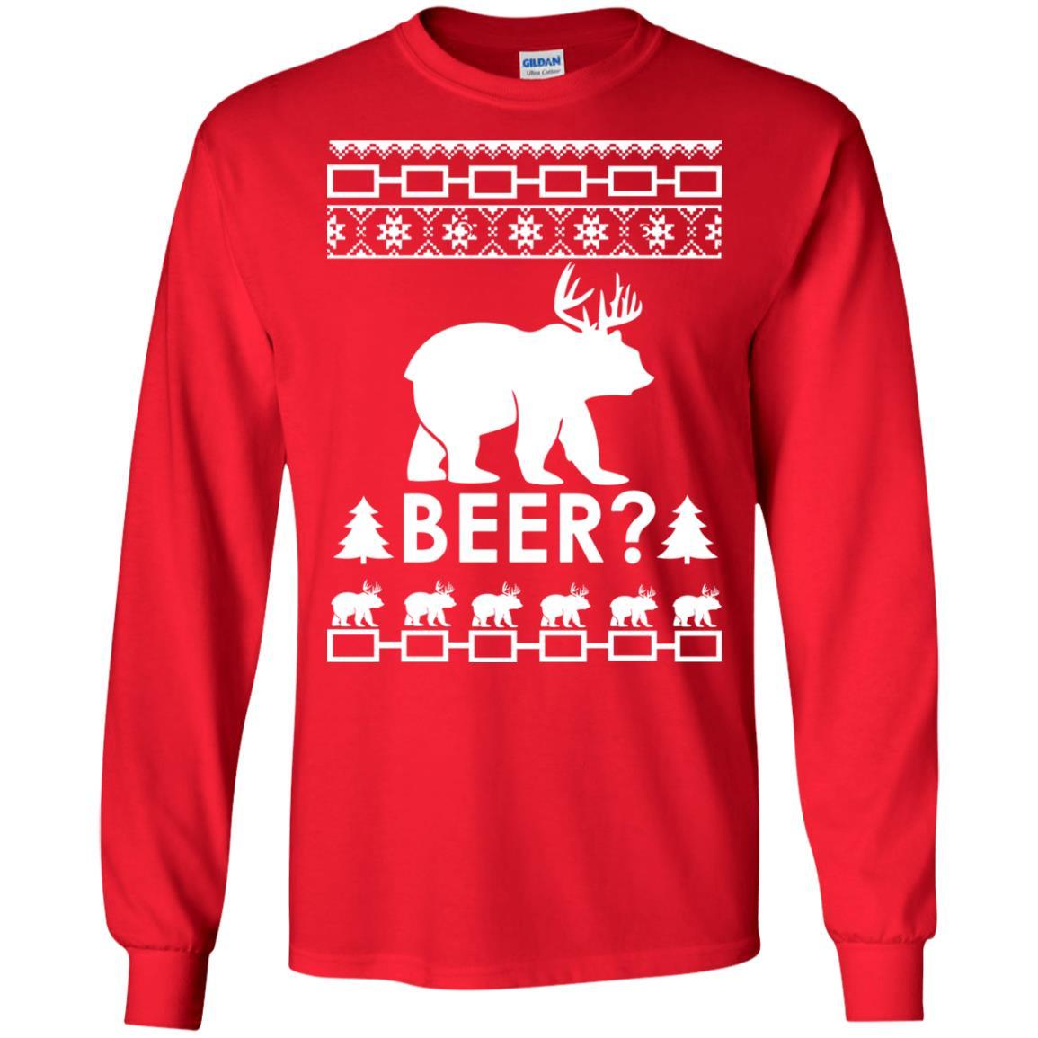 image 2361 - Christmas Beer Bear-Reindeer Ugly Sweater, Shirt