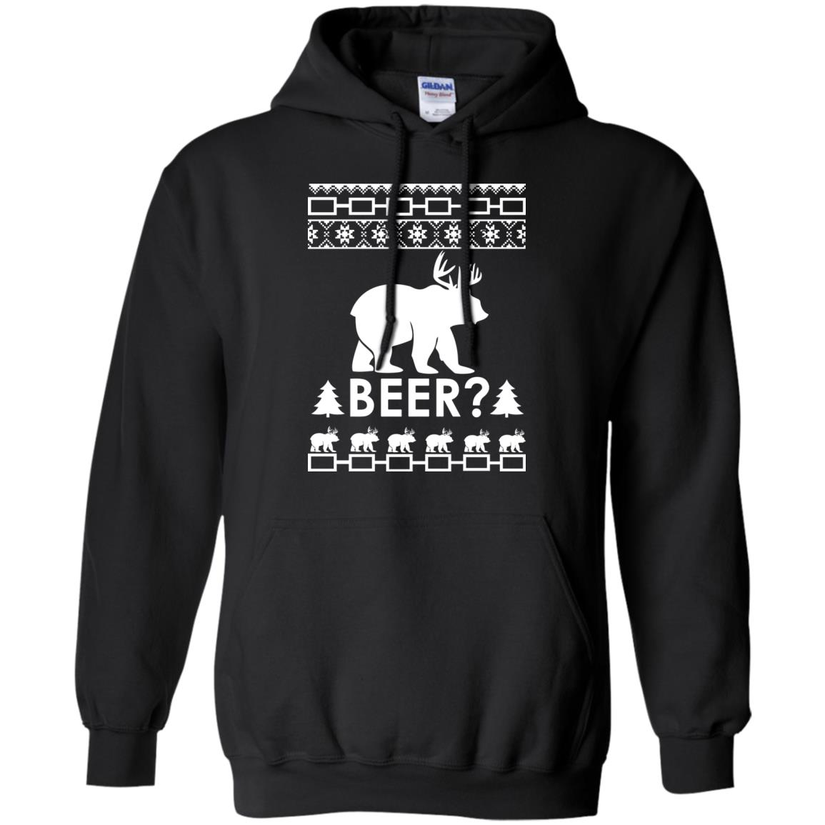image 2362 - Christmas Beer Bear-Reindeer Ugly Sweater, Shirt