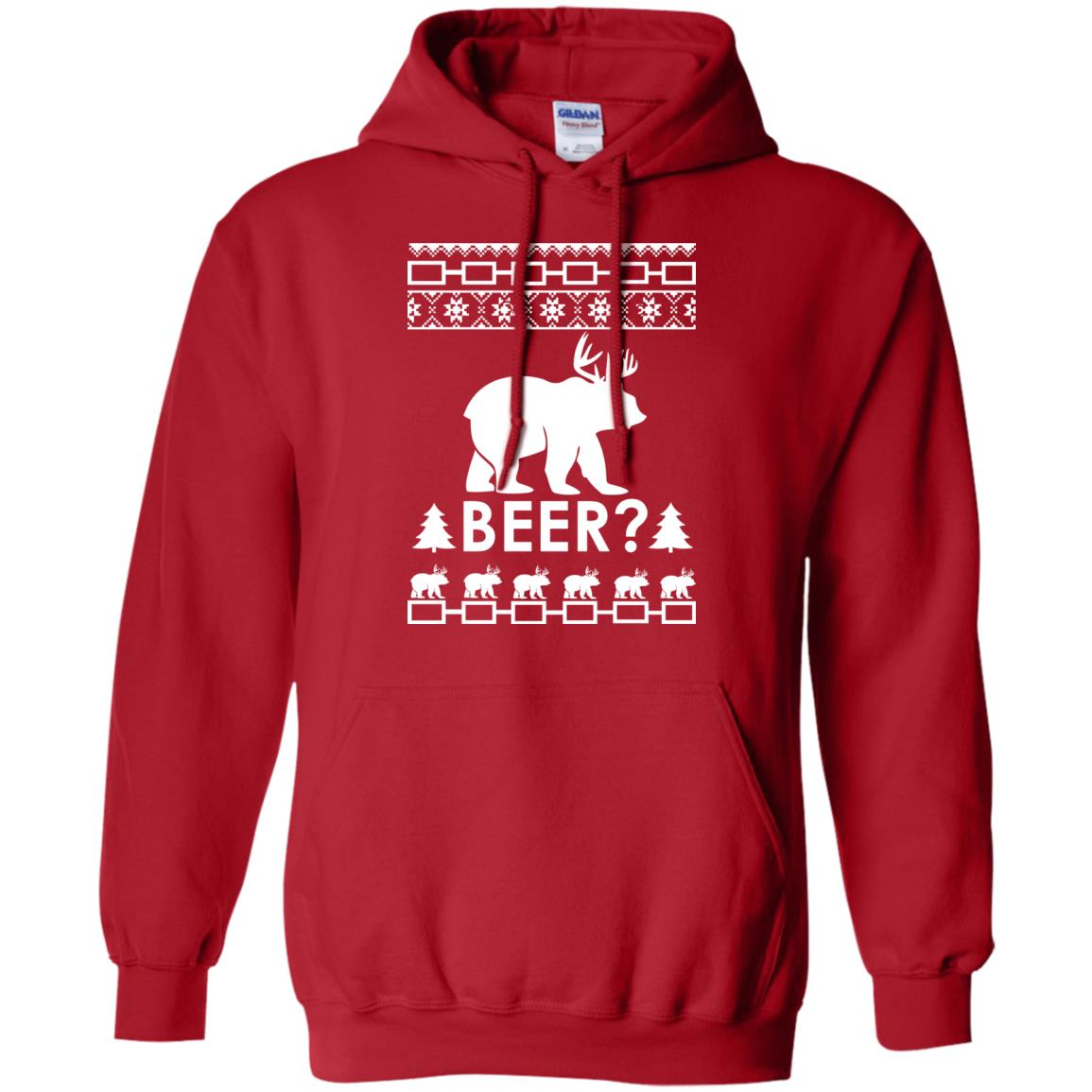 image 2364 - Christmas Beer Bear-Reindeer Ugly Sweater, Shirt