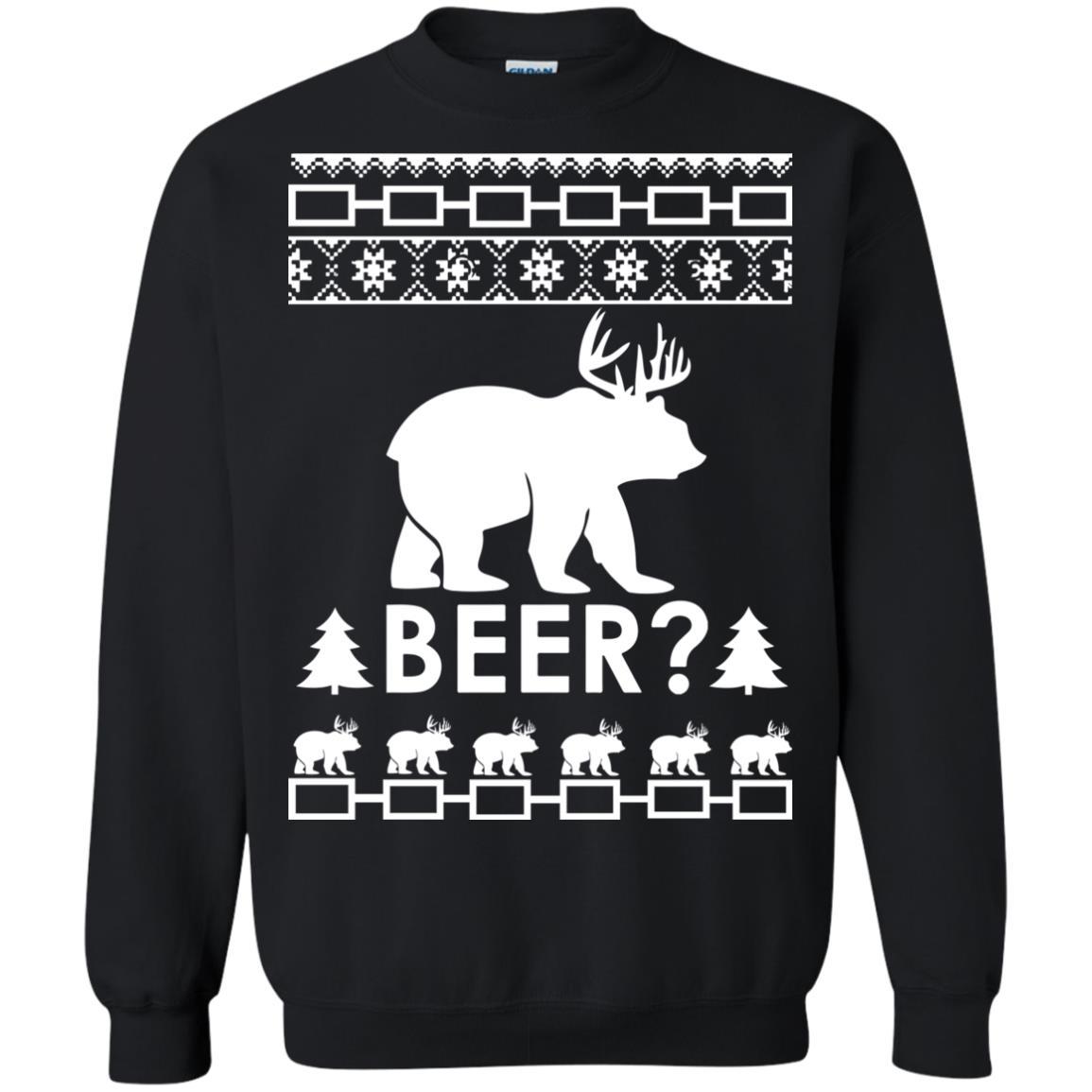 image 2365 - Christmas Beer Bear-Reindeer Ugly Sweater, Shirt
