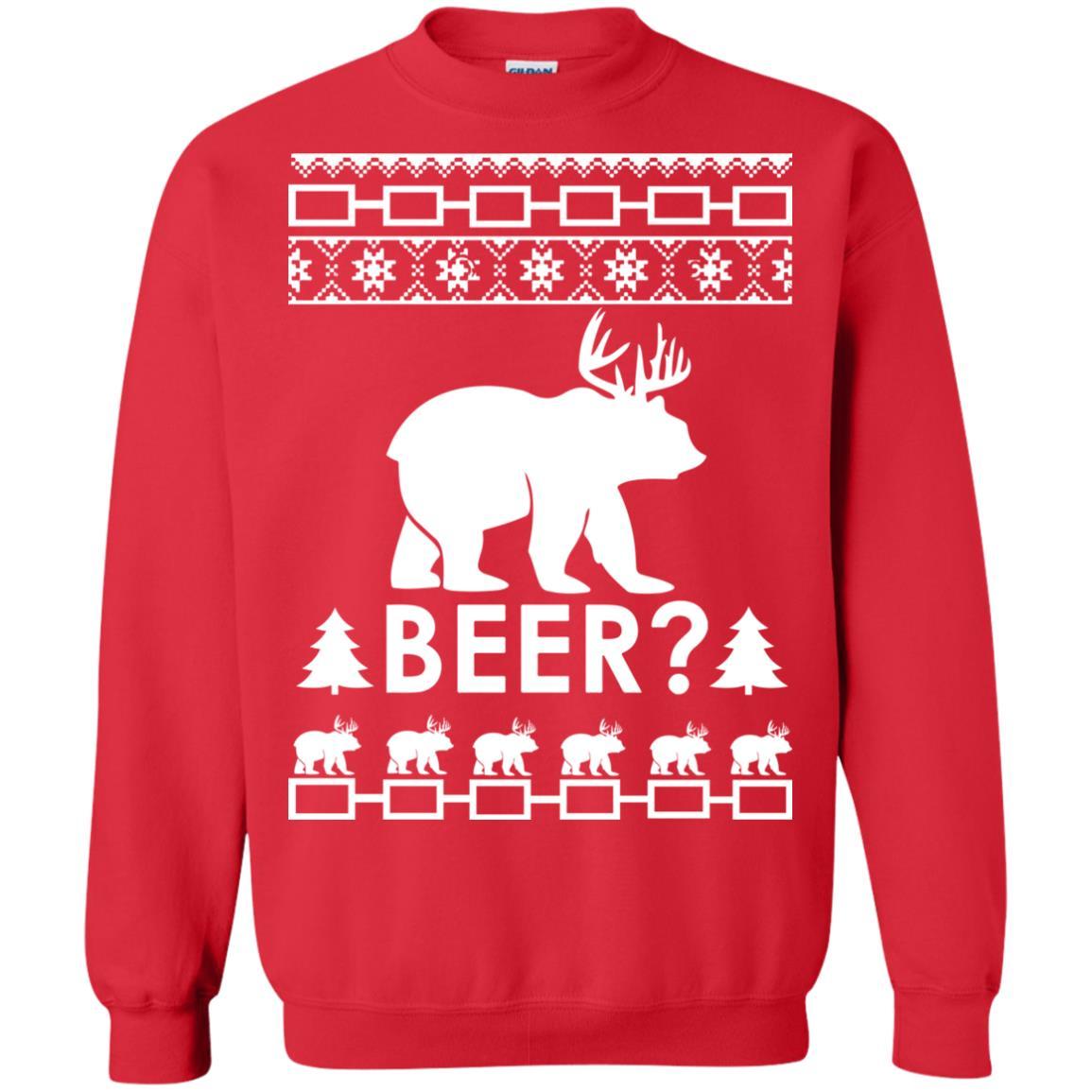 image 2367 - Christmas Beer Bear-Reindeer Ugly Sweater, Shirt