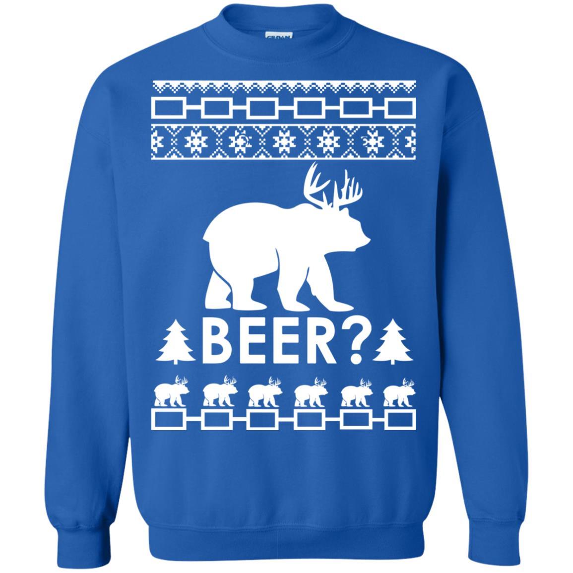 image 2369 - Christmas Beer Bear-Reindeer Ugly Sweater, Shirt