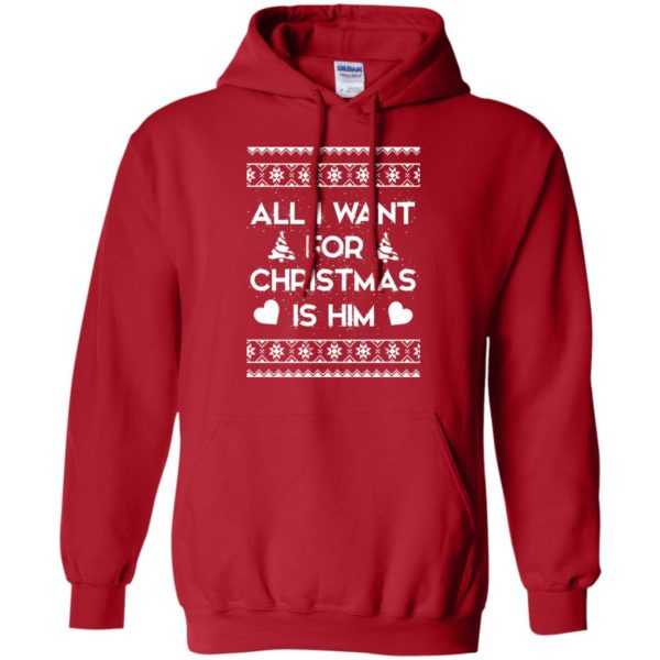image 2376 600x600 - Couple Sweatshirt: All I Want For Christmas Is Him Ugly Sweater, Shirt