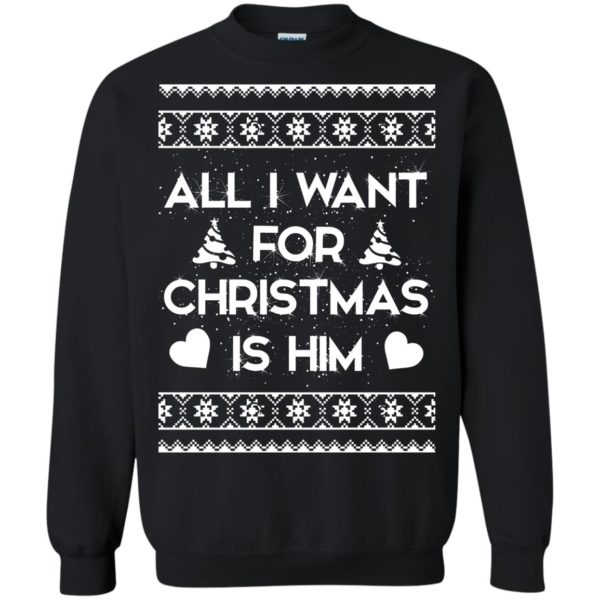 image 2377 600x600 - Couple Sweatshirt: All I Want For Christmas Is Him Ugly Sweater, Shirt