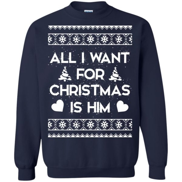 image 2378 600x600 - Couple Sweatshirt: All I Want For Christmas Is Him Ugly Sweater, Shirt