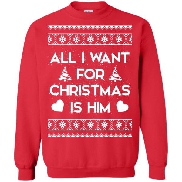image 2379 600x600 - Couple Sweatshirt: All I Want For Christmas Is Him Ugly Sweater, Shirt