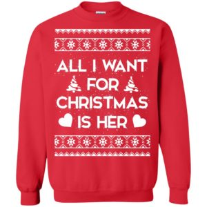 image 2391 300x300 - Couple Sweatshirt: All I Want For Christmas Is Her ugly Sweater, Shirt