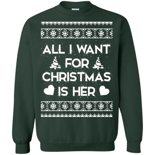 image 2392 600x600 - Couple Sweatshirt: All I Want For Christmas Is Her ugly Sweater, Shirt
