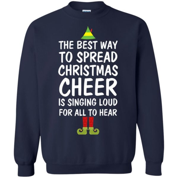 image 2657 600x600 - Elf Best Way To Spread Christmas Cheer Sweater, Ugly Sweatshirt