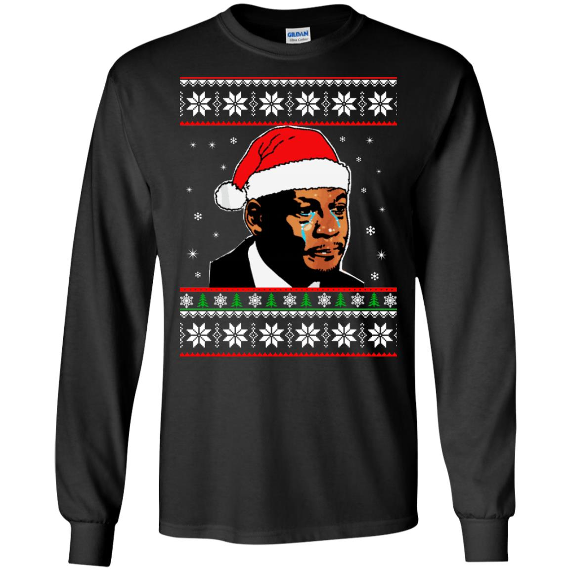 image 2662 - Crying Jordan Christmas Sweater, Christmas Jordan Ugly Sweatshirt