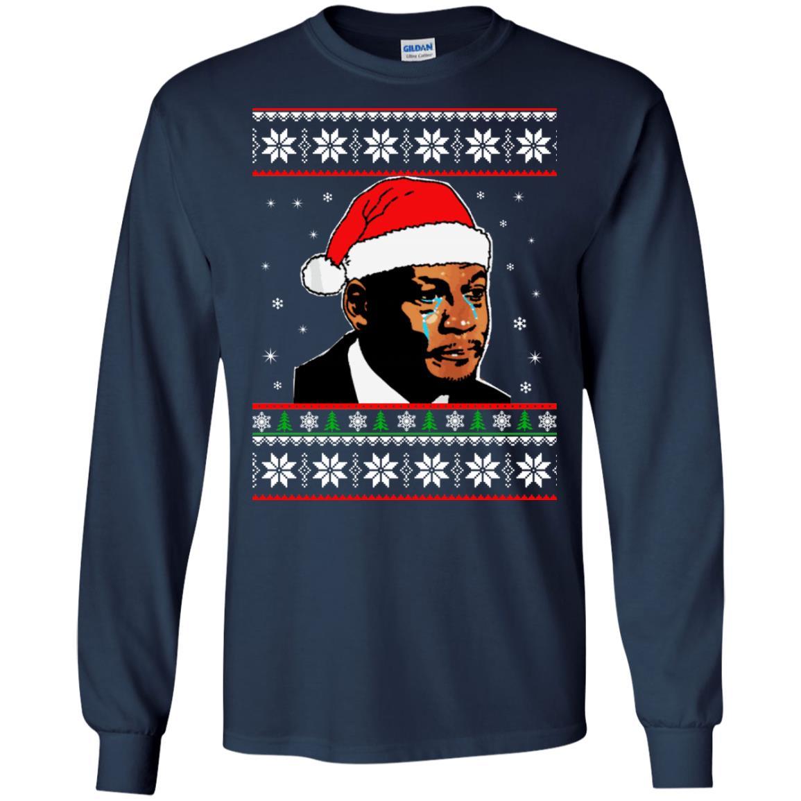 image 2663 - Crying Jordan Christmas Sweater, Christmas Jordan Ugly Sweatshirt
