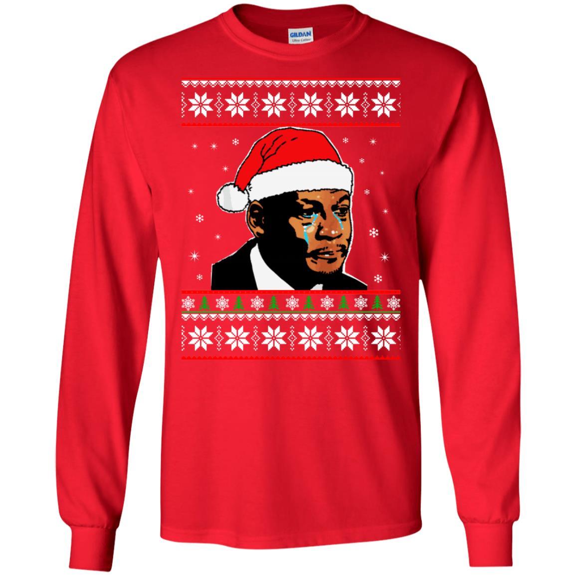 image 2664 - Crying Jordan Christmas Sweater, Christmas Jordan Ugly Sweatshirt