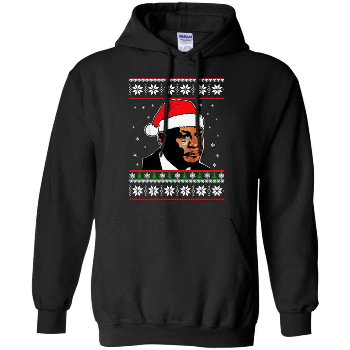 image 2665 - Crying Jordan Christmas Sweater, Christmas Jordan Ugly Sweatshirt