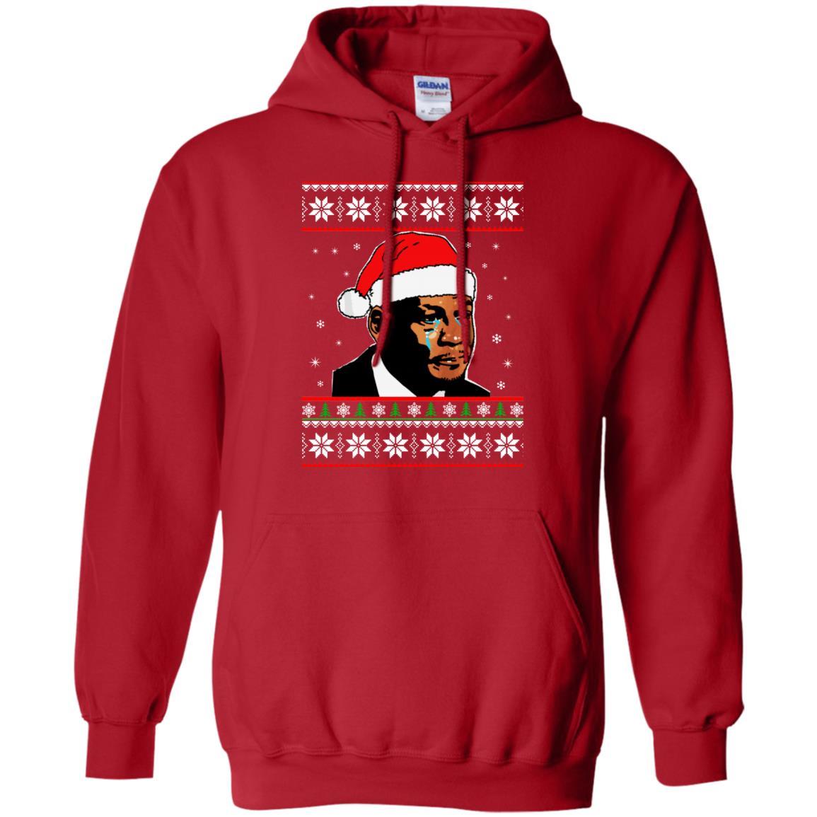 image 2667 - Crying Jordan Christmas Sweater, Christmas Jordan Ugly Sweatshirt