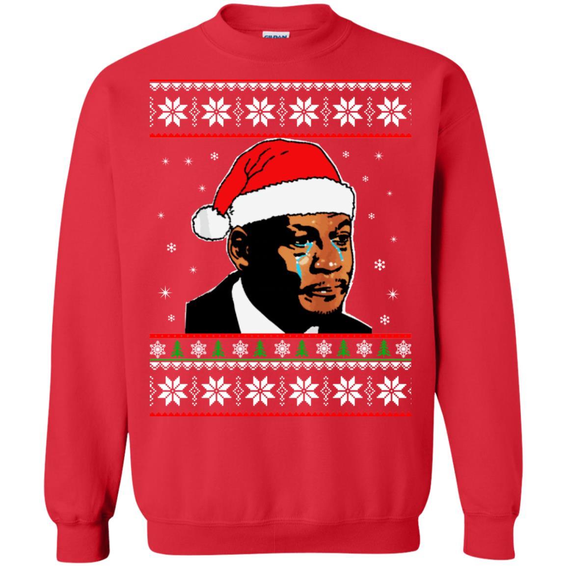 image 2670 - Crying Jordan Christmas Sweater, Christmas Jordan Ugly Sweatshirt