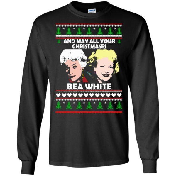 image 2939 600x600 - Golden Girls: May all your Christmases Bea White Ugly Sweater, Shirt