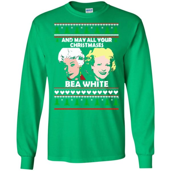 image 2940 600x600 - Golden Girls: May all your Christmases Bea White Ugly Sweater, Shirt