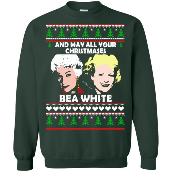 image 2945 600x600 - Golden Girls: May all your Christmases Bea White Ugly Sweater, Shirt