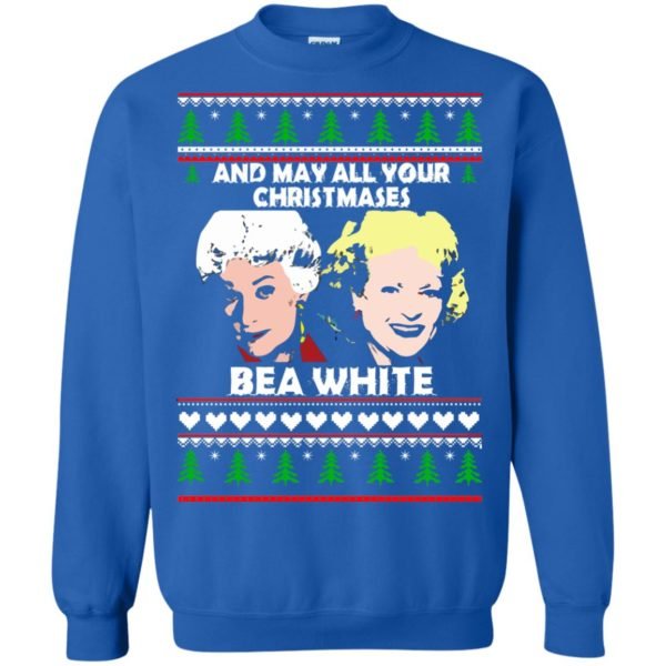 image 2946 600x600 - Golden Girls: May all your Christmases Bea White Ugly Sweater, Shirt