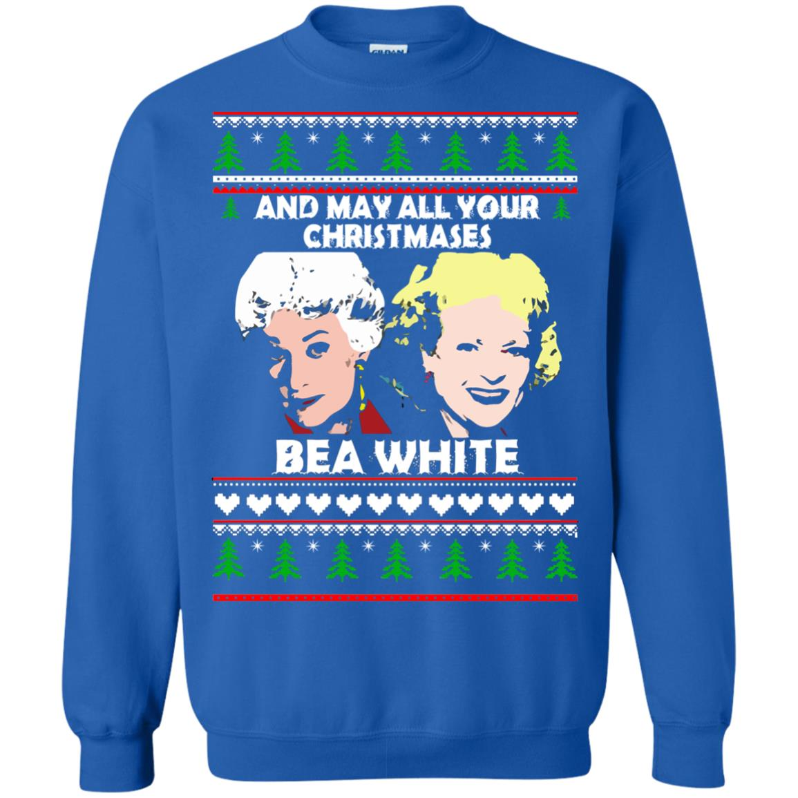 image 2946 - Golden Girls: May all your Christmases Bea White Ugly Sweater, Shirt