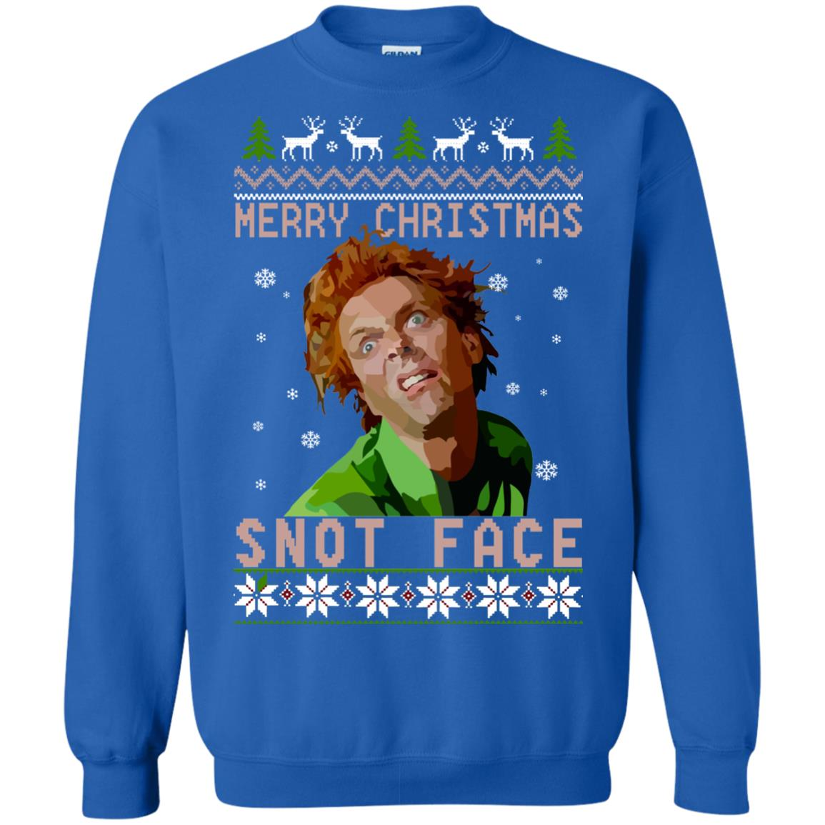 Christmas Ugly Sweater.Drop Dead Fred Snot Face Christmas Ugly Sweater Hoodie