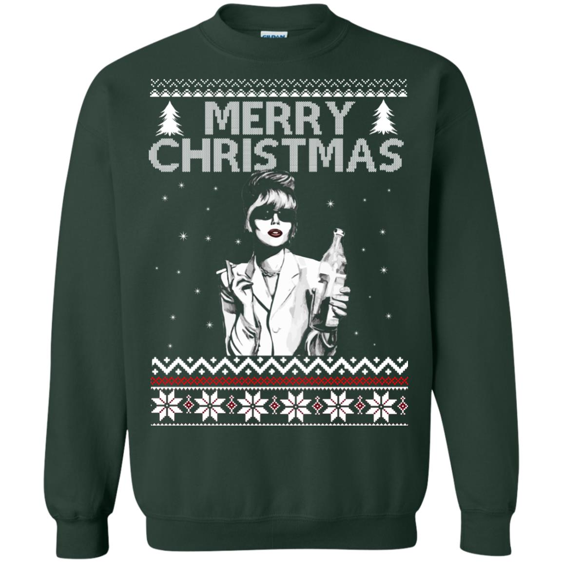 merry christmas patsy stone ugly sweater hoodie