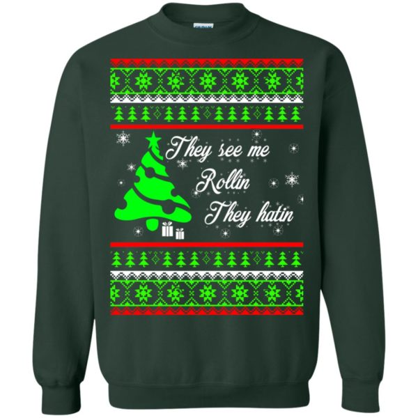 image 3845 600x600 - They See Me Rollin They Hatin Christmas Sweater, Shirt