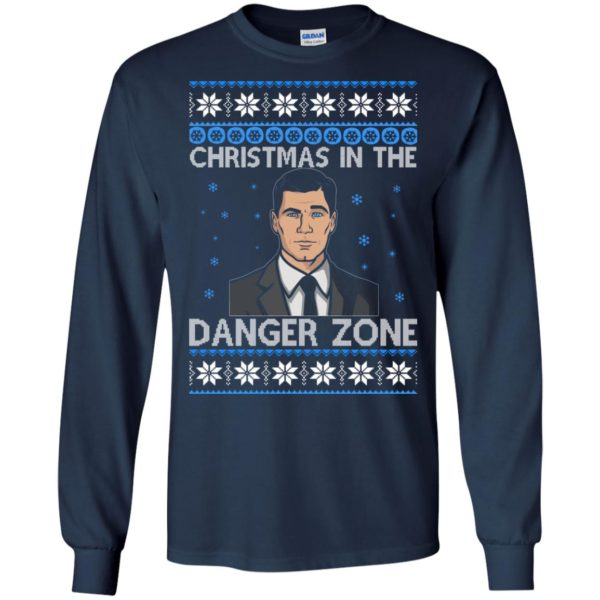 image 386 600x600 - Archer Christmas In The Danger Zone Ugly Sweater, Shirt, Long Sleeve
