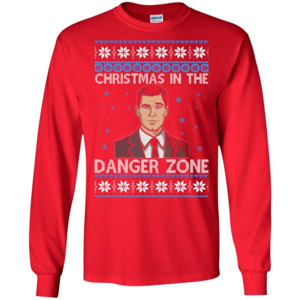 image 387 600x600 - Archer Christmas In The Danger Zone Ugly Sweater, Shirt, Long Sleeve