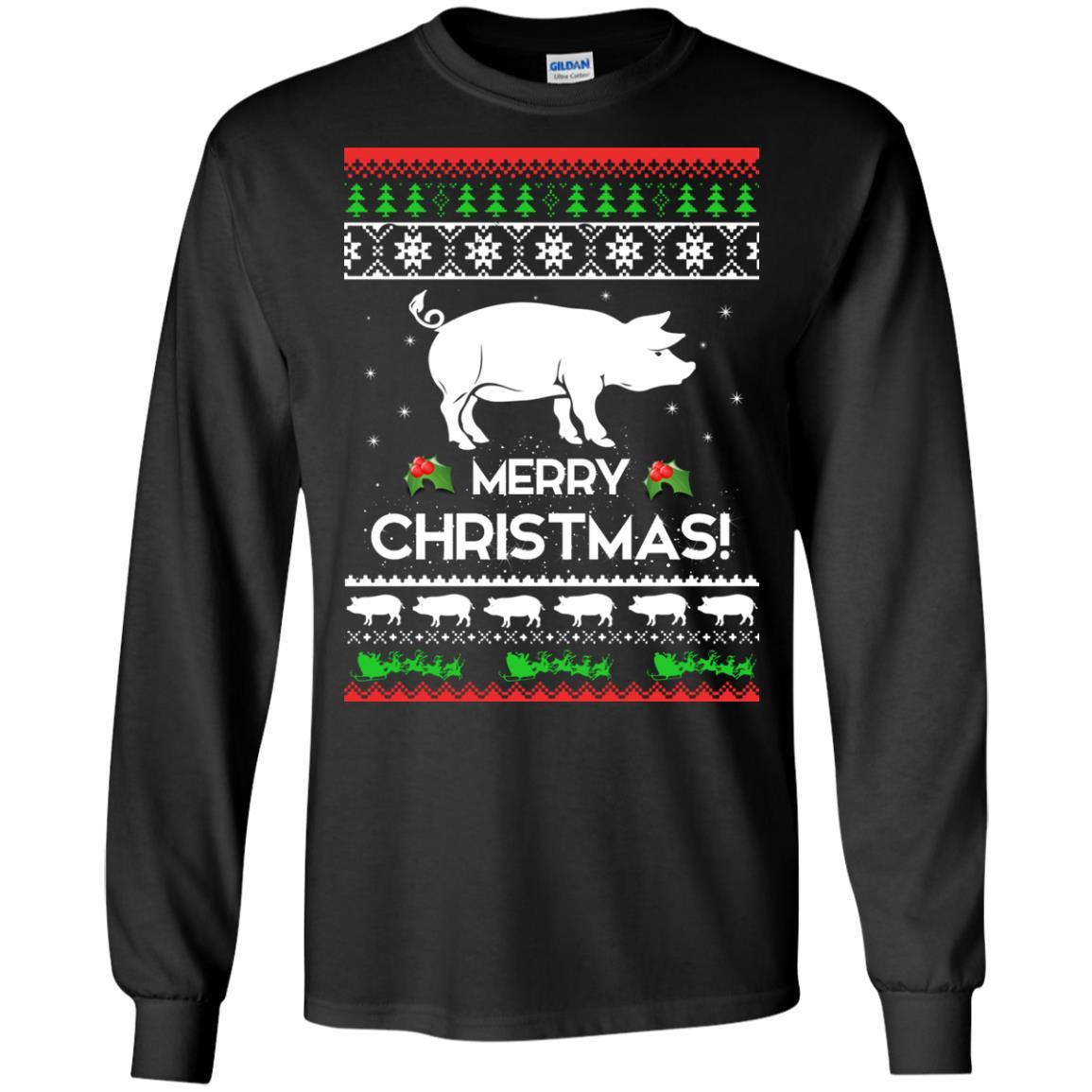 image 3872 - Merry Pigmas Christmas Pig Ugly Sweater, Shirt