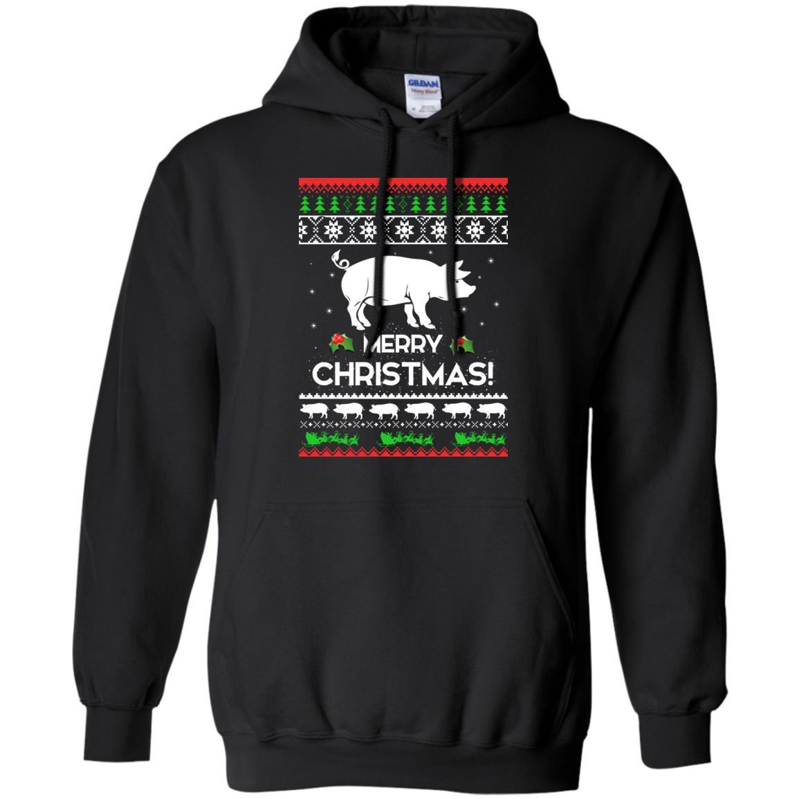 image 3875 - Merry Pigmas Christmas Pig Ugly Sweater, Shirt