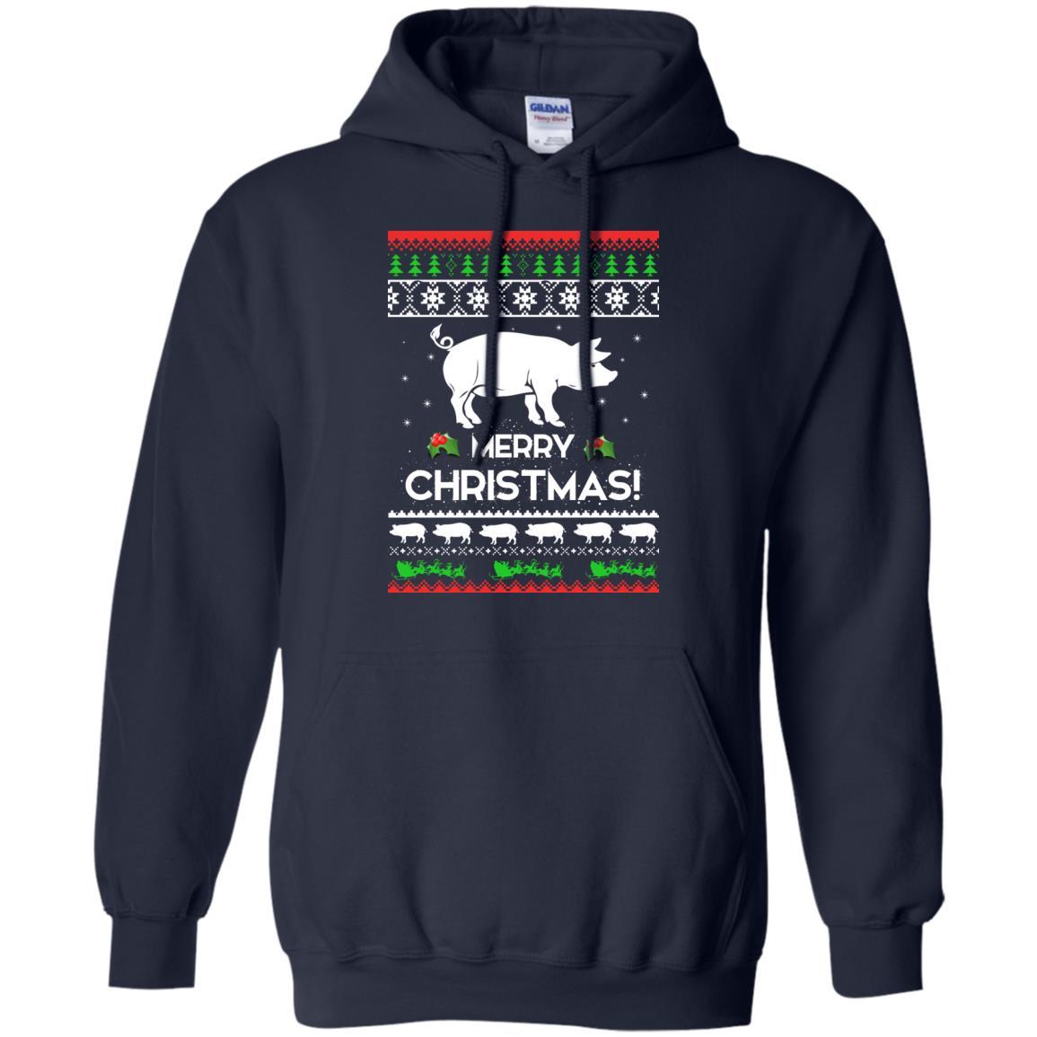 image 3876 - Merry Pigmas Christmas Pig Ugly Sweater, Shirt