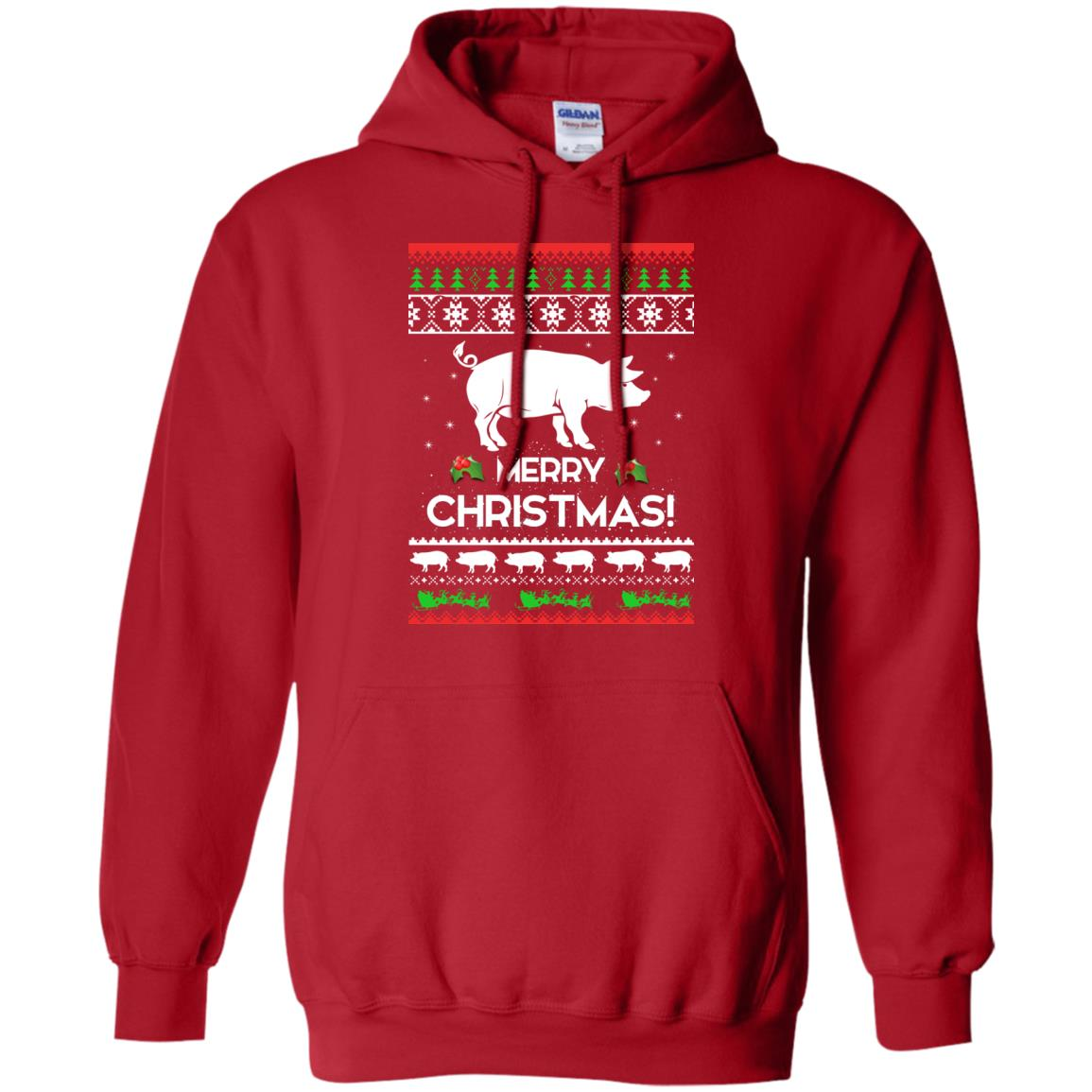 image 3877 - Merry Pigmas Christmas Pig Ugly Sweater, Shirt
